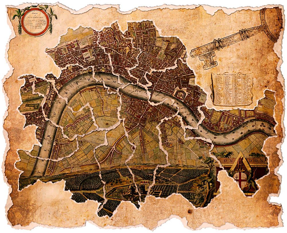 London Karte mit Schlüssel